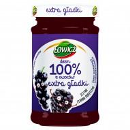 Łowicz Dżem 100% z owoców extra gładki jeżyna czarna porzeczka 235 g